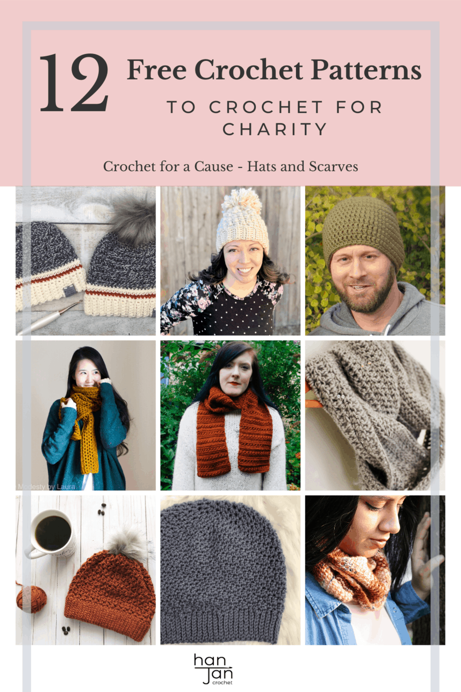 crochet hats and scarves for charity