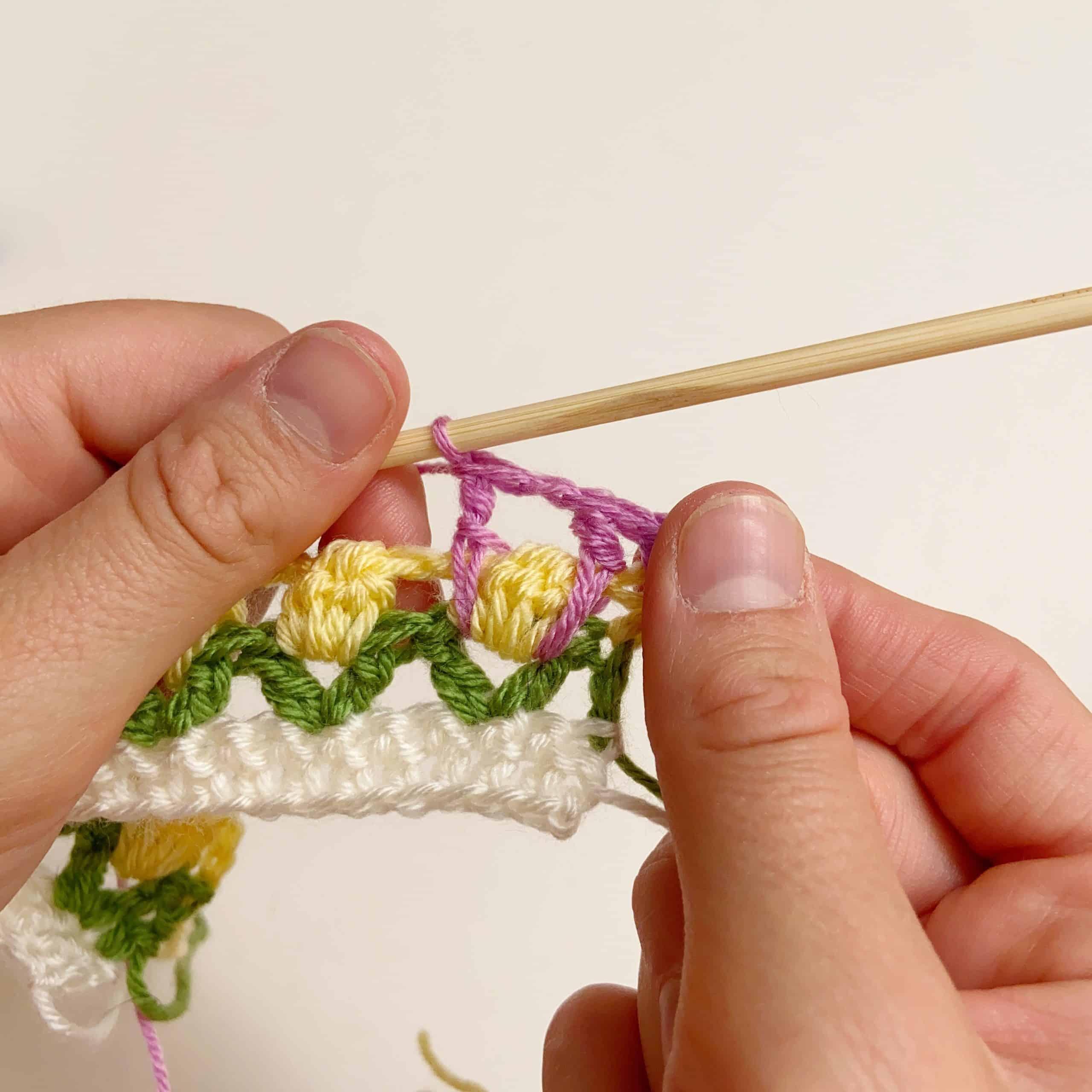 crochet double treble, treble stitch