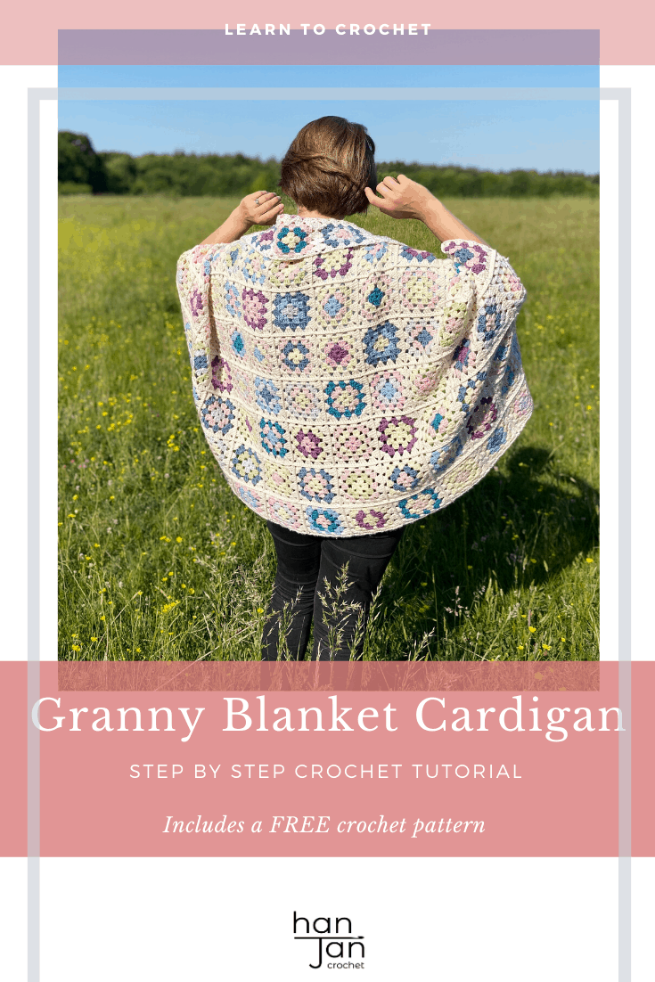 Granny Square Blanket Cardigan Tutorial 2