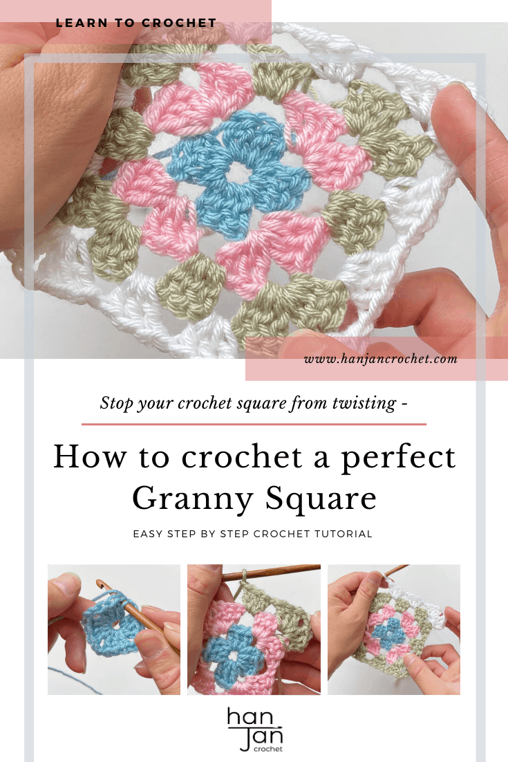 learn how to crochet a granny square