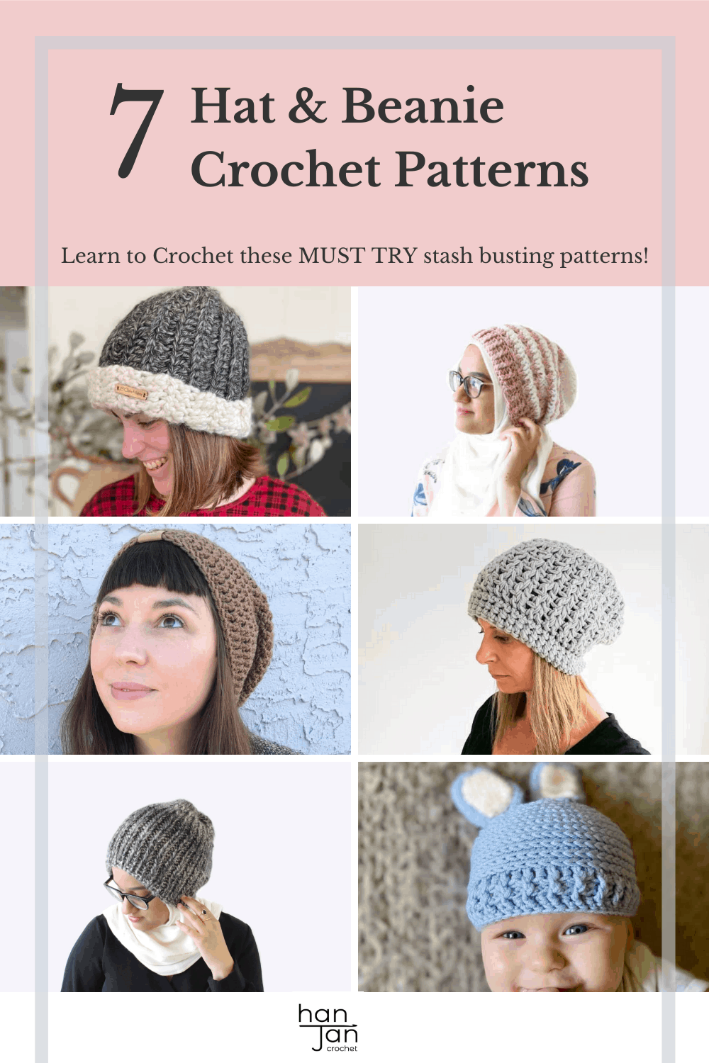 7 Easy Crochet Hat and Beanie Patterns for all the family