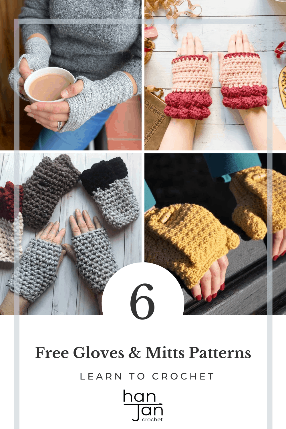 collection of modern crochet fingerless gloves and mitts patterns