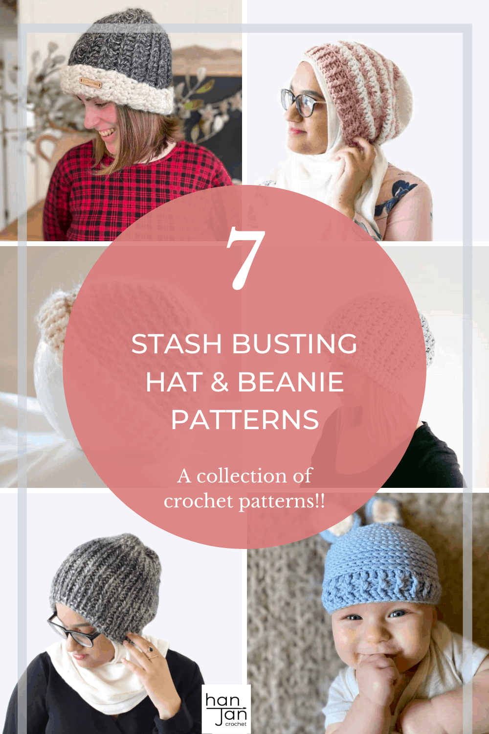 7 Easy Crochet Hat Patterns for All The Family