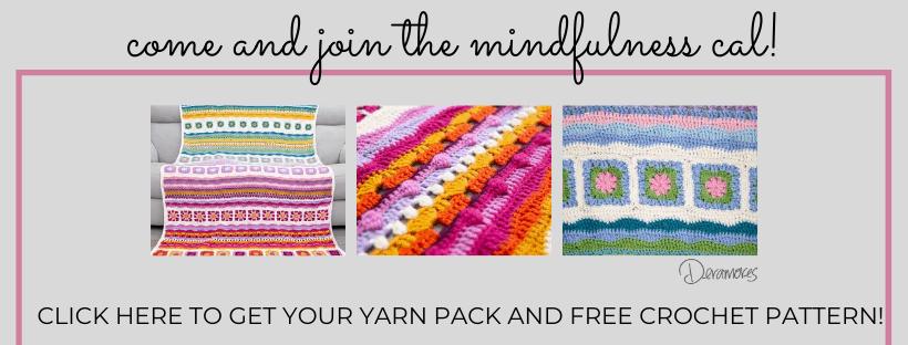 mindfulness crochet blanket CAL images