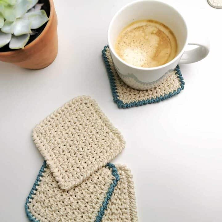 Nordic Textured Coasters free crochet pattern 4