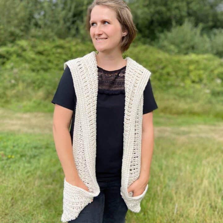 Pickpocket Crochet Pocket Shawl 1 scaled