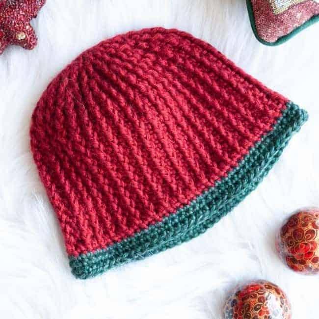 Womens Crochet Beanie for Christmas