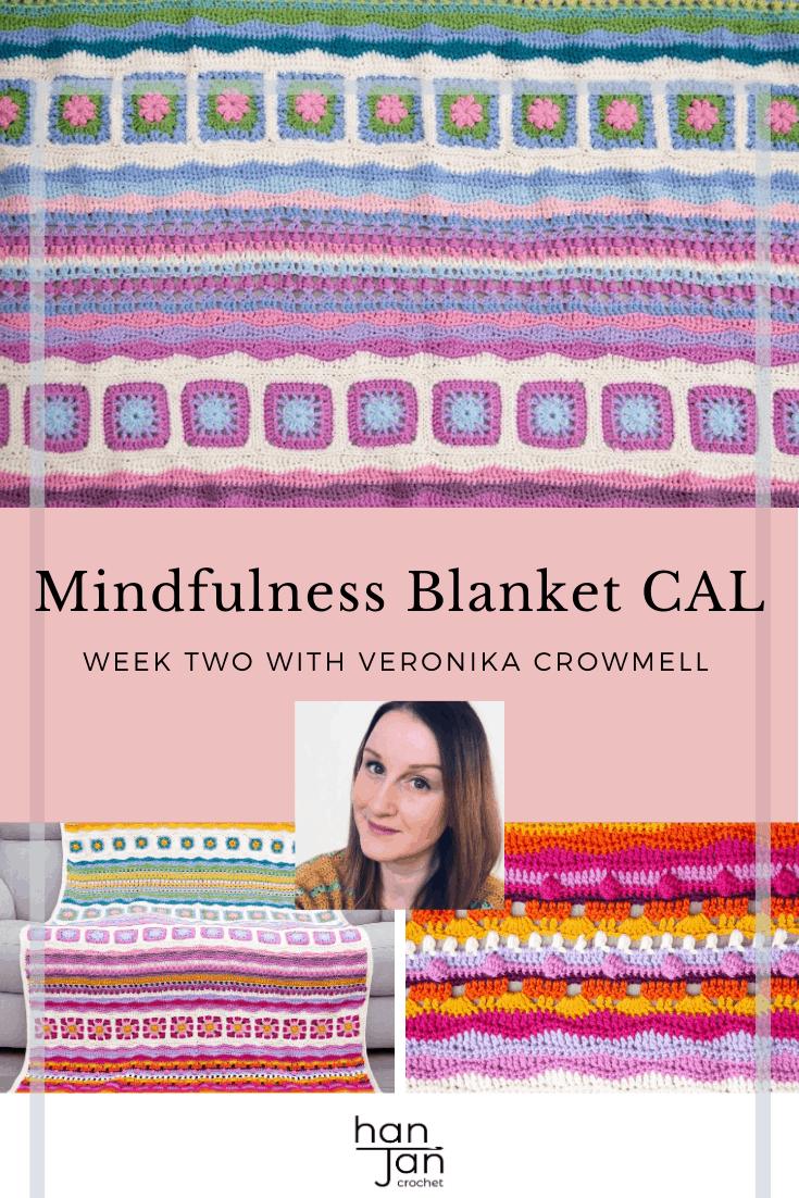 Colourful crochet blanket design