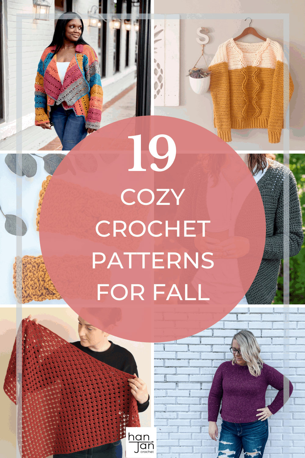 cozy crochet patterns including jumpers, cardigans and shawls