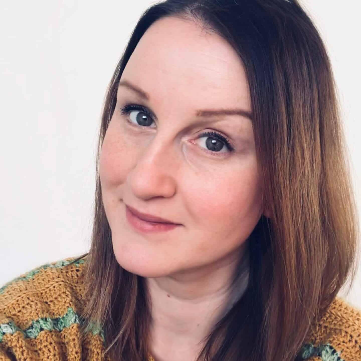 Headshot of Veronika Cromwell Blue Star Crochet designer smiling