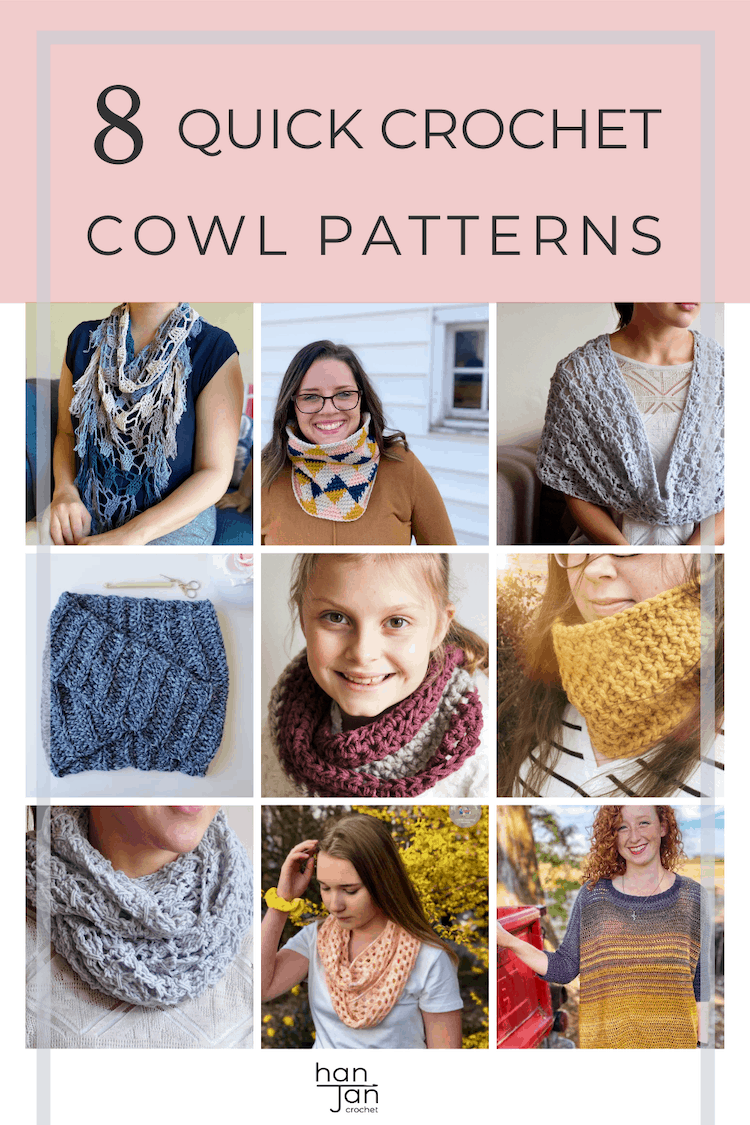 8 modern crochet cowl patterns