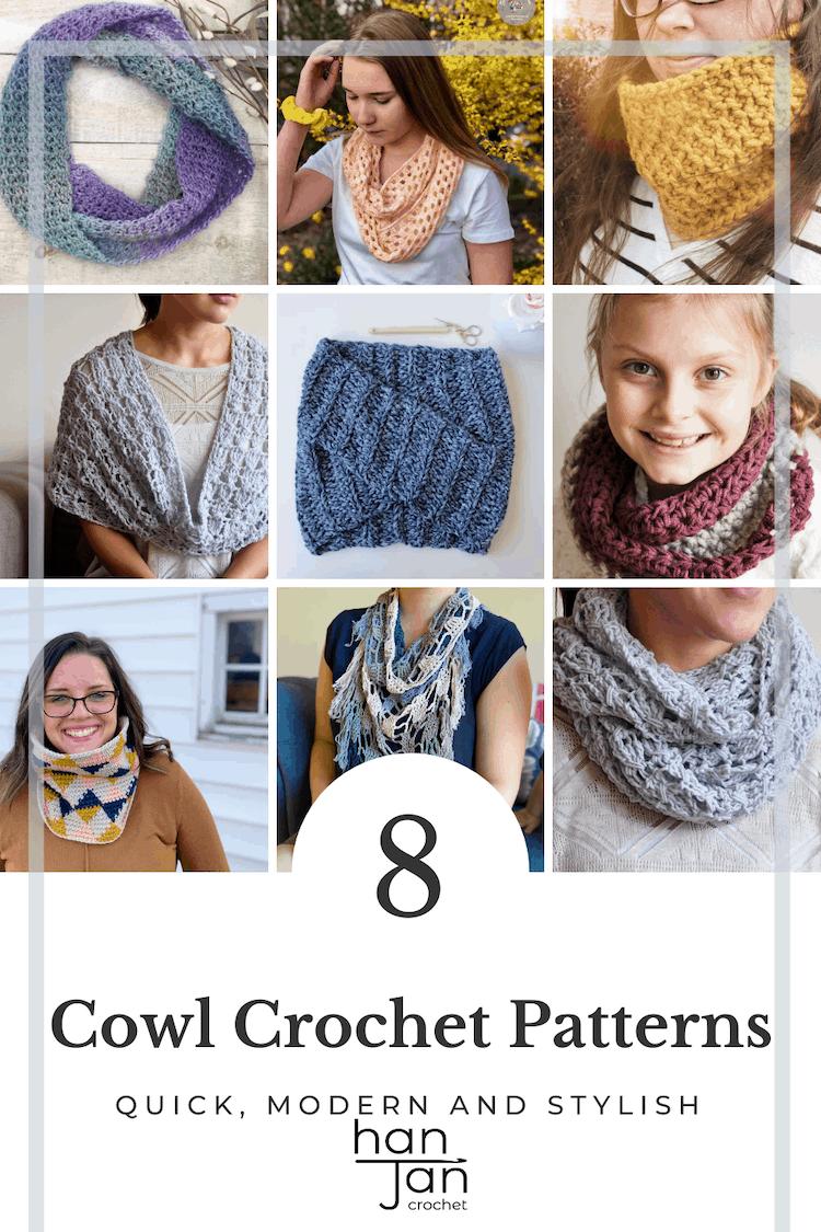 8 colourful crochet cowls
