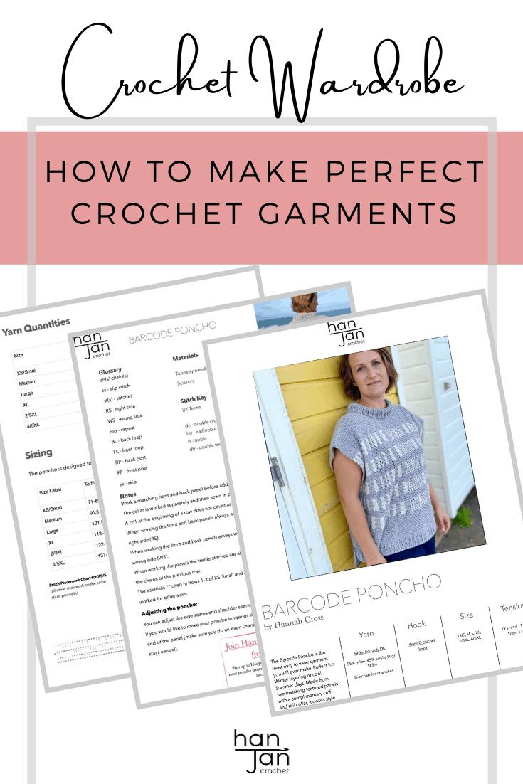 how to make perfect crochet garments image of crochet pattern PDF