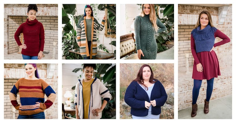 7 winter crochet garments worn by women