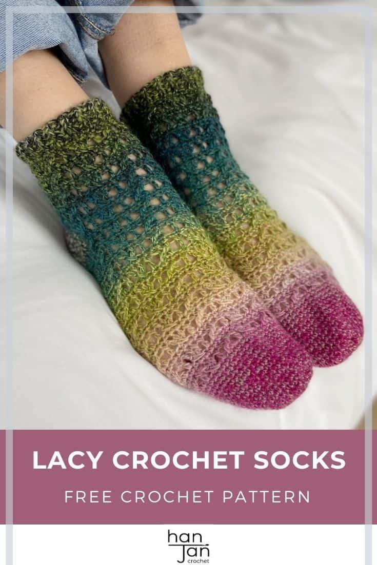 Lacy Crochet Socks Pattern Rialto ankle socks 3