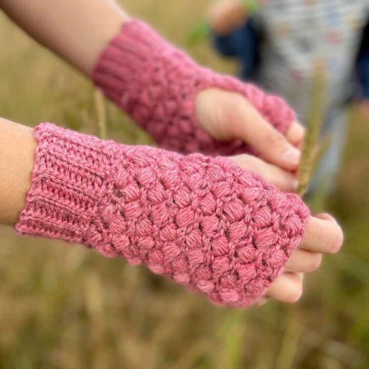 Quick Puff Stitch Crochet Mittens 2 copy 1