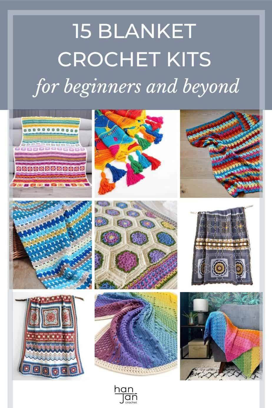 image showing bright and colourful crochet blankets