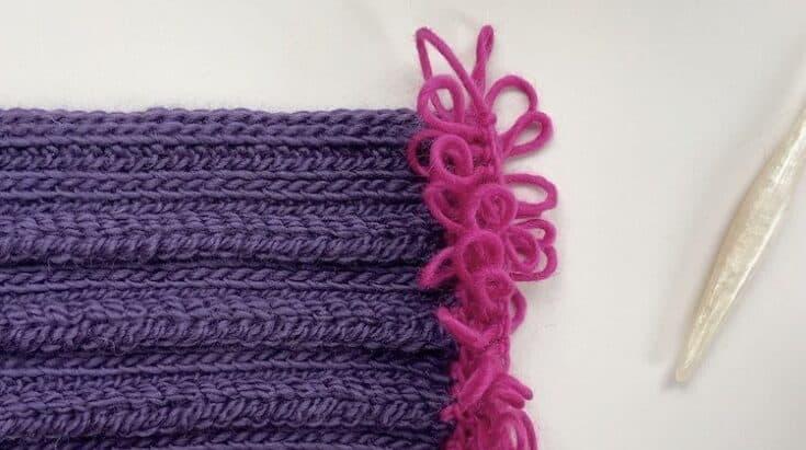 How to Crochet a Loop Stitch Fringe Step 12