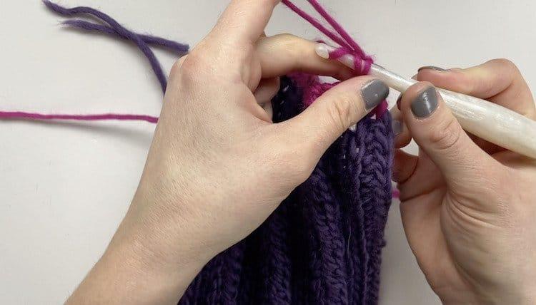 How to Crochet a Loop Stitch Fringe Step 7