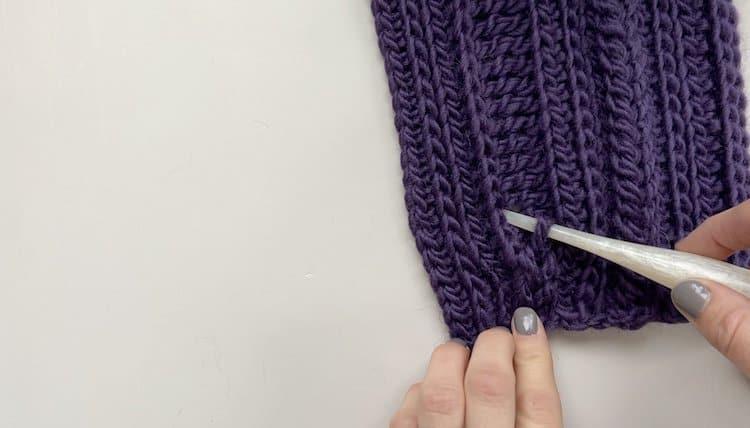 How to crochet a braid tutorial Step 6