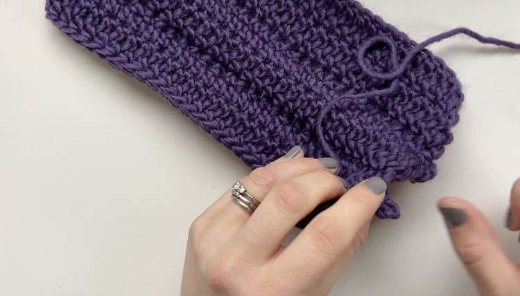 How to crochet a braid tutorial Step 9