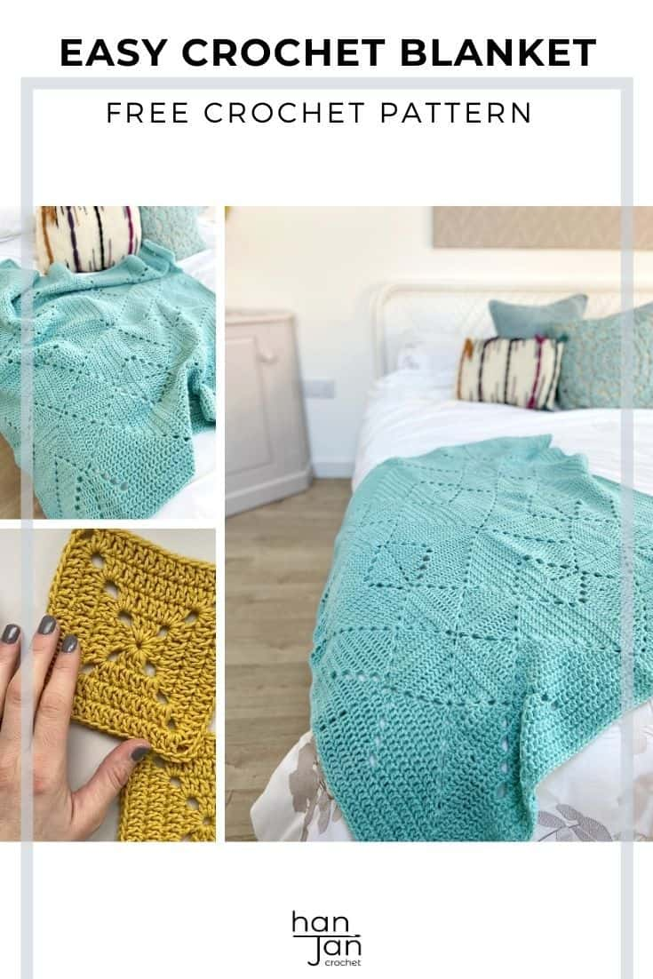 Solid Granny Square Blanket Criss Cross Crochet Blanket Pattern 2