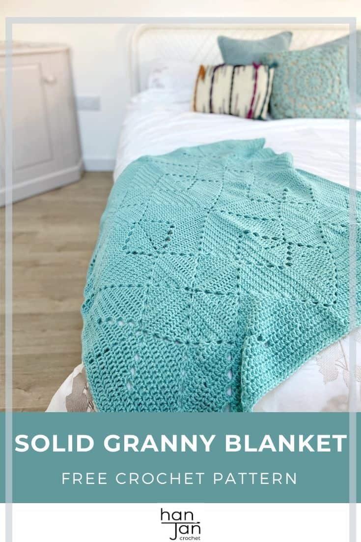 Solid Granny Square Blanket Criss Cross Crochet Blanket Pattern 3