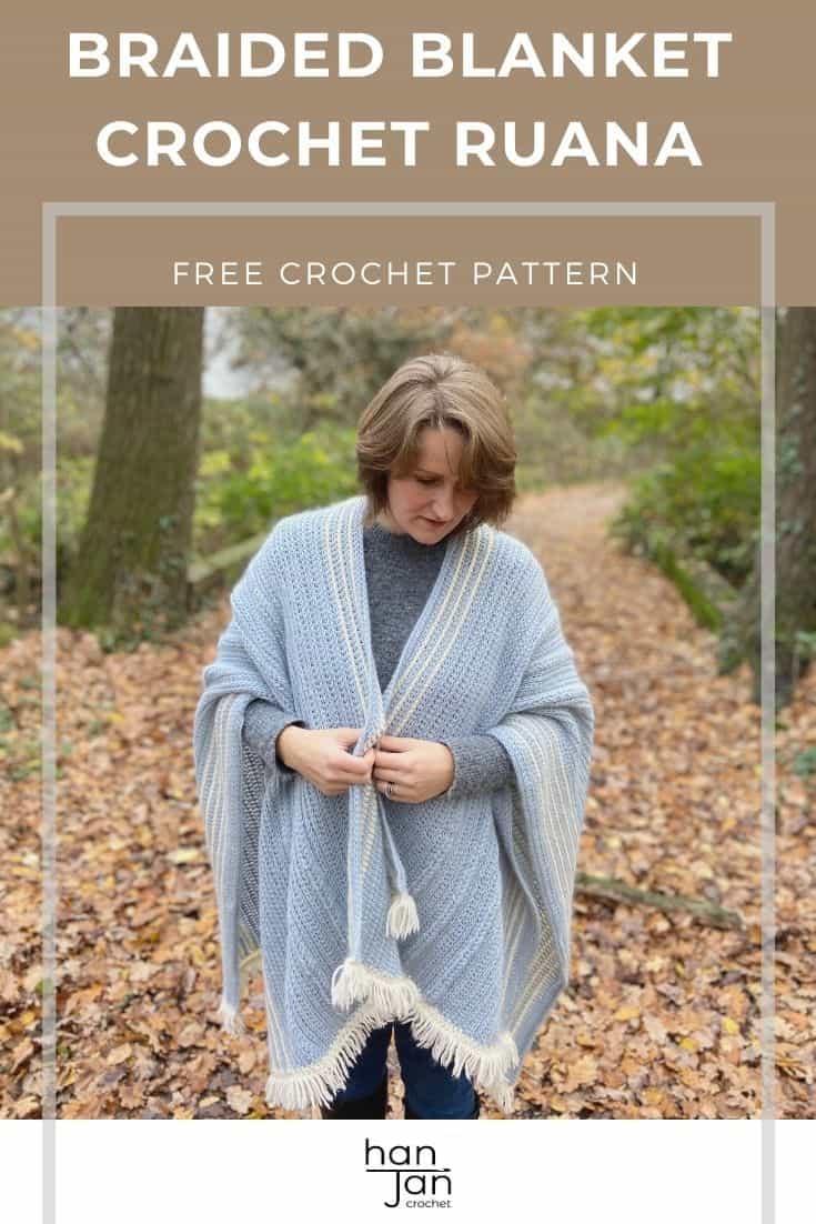 The Braided Blanket Crochet Ruana Free Crochet Wrap Pattern 1