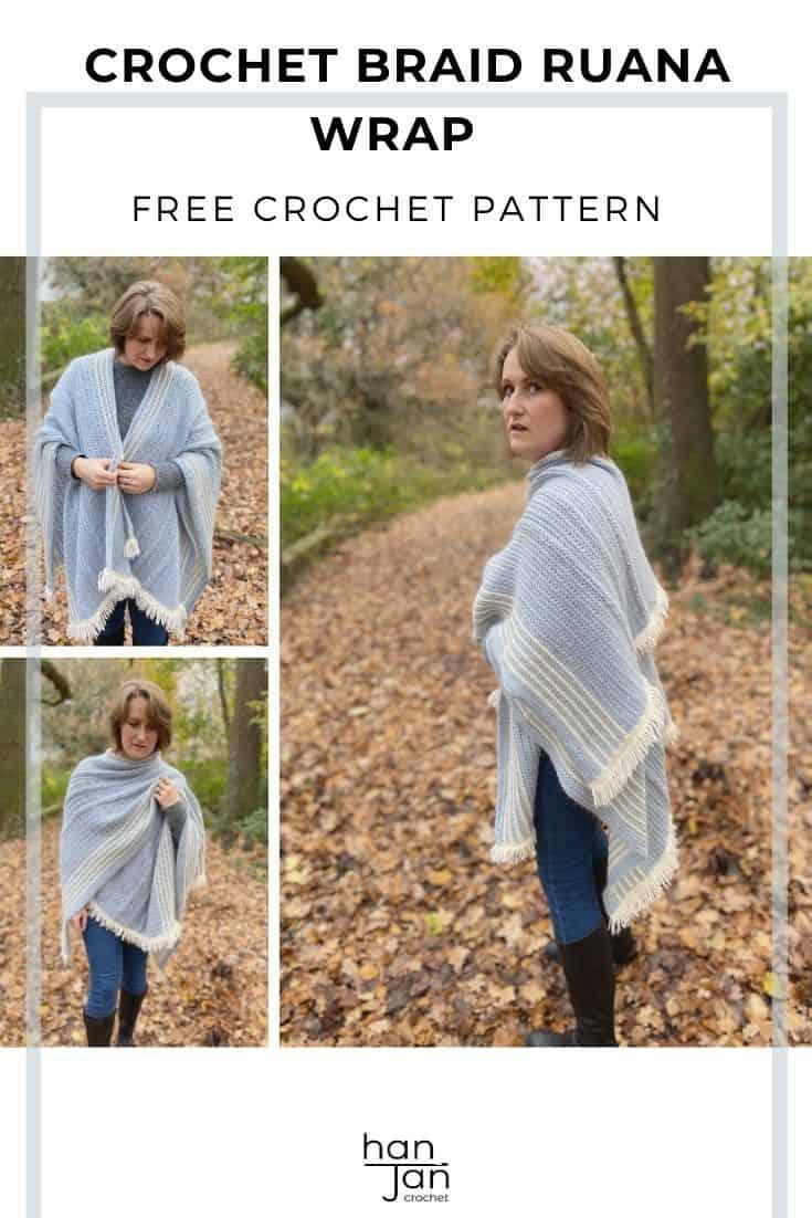 The Braided Blanket Crochet Ruana Free Crochet Wrap Pattern 2