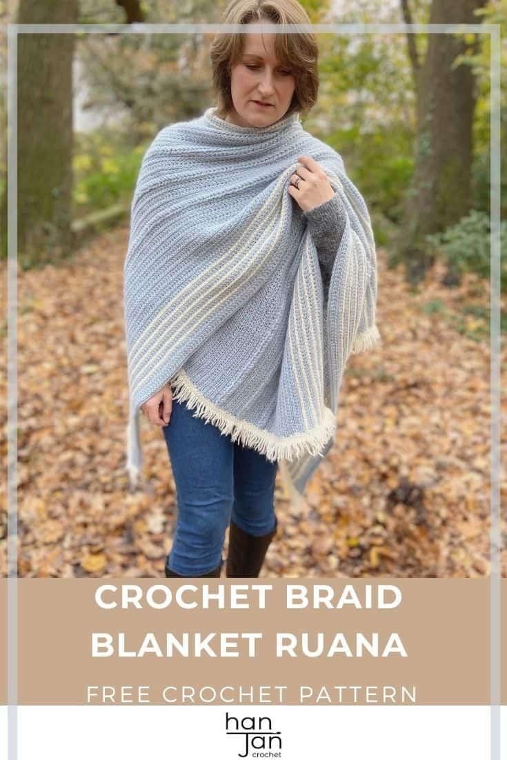 The Braided Blanket Crochet Ruana Free Crochet Wrap Pattern 3