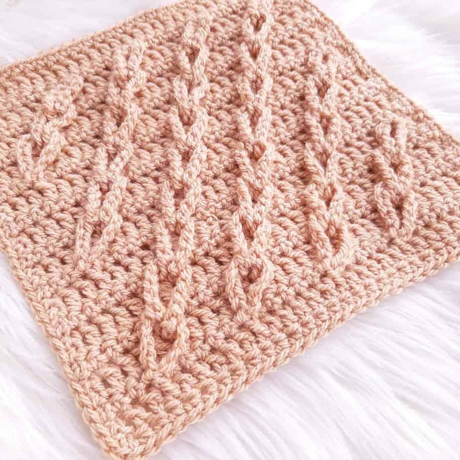 lasting links crochet blanket square 14