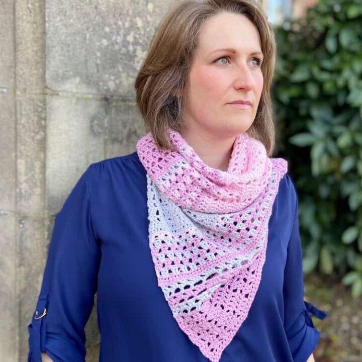 Blossom Lace Crochet Shawl Pattern Furls Crochet CAL 2021 3 1
