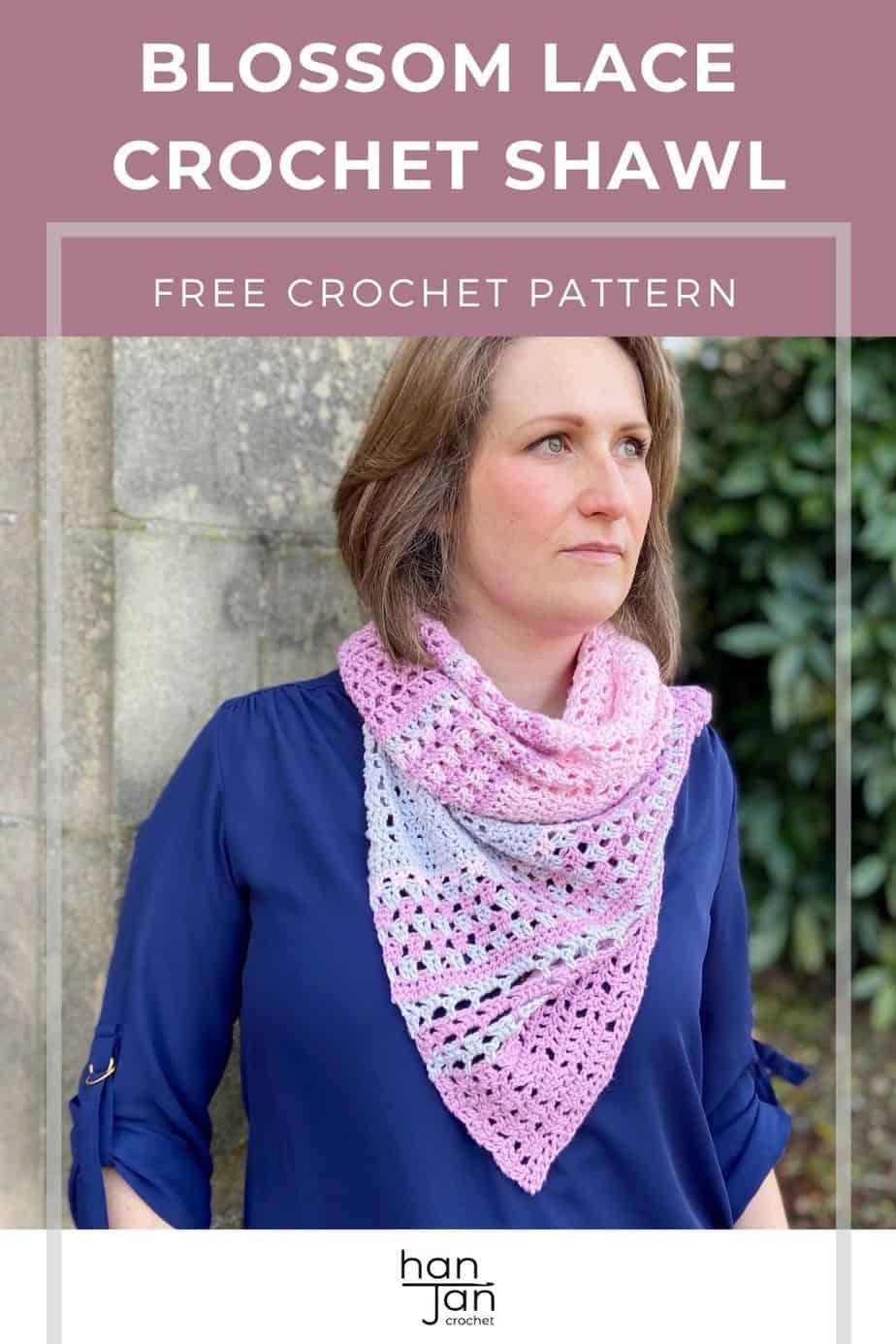 Blossom Lace Crochet Shawl Pattern Furls Crochet CAL 2021 pin 1