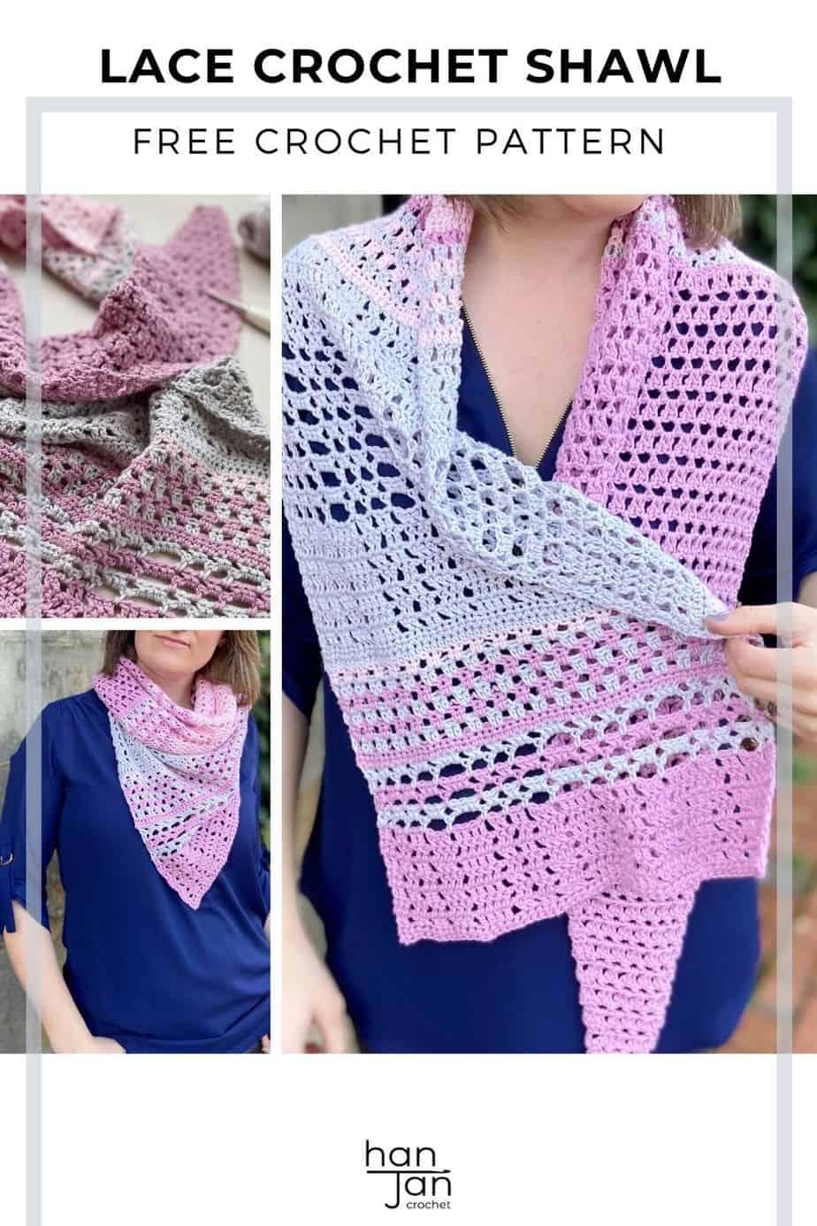 Blossom Lace Crochet Shawl Pattern Furls Crochet CAL 2021 pin 2