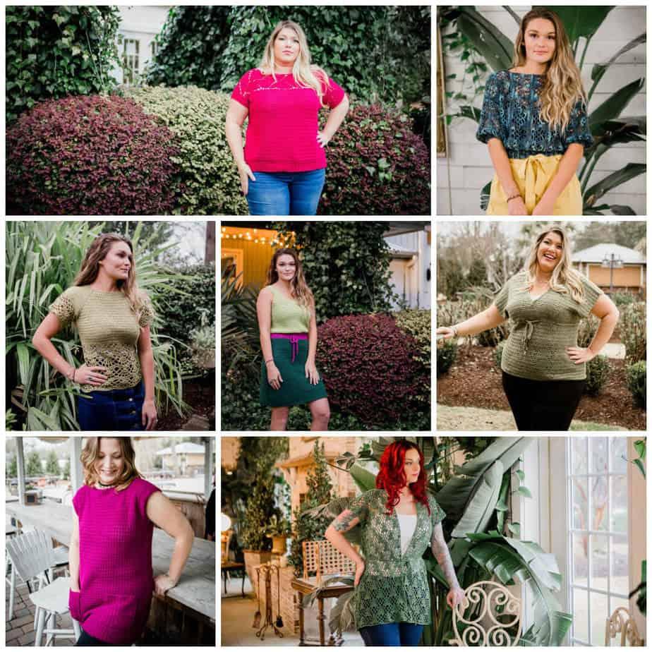 7 spring crochet garment patterns