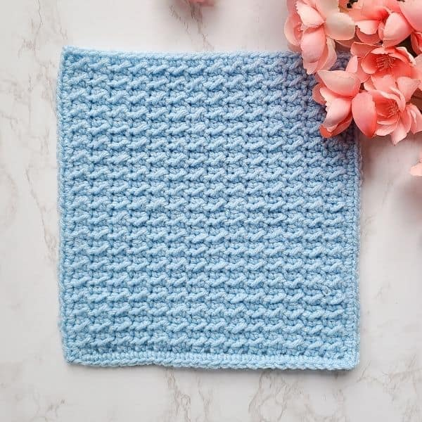 Even Moss Stitch Crochet Square