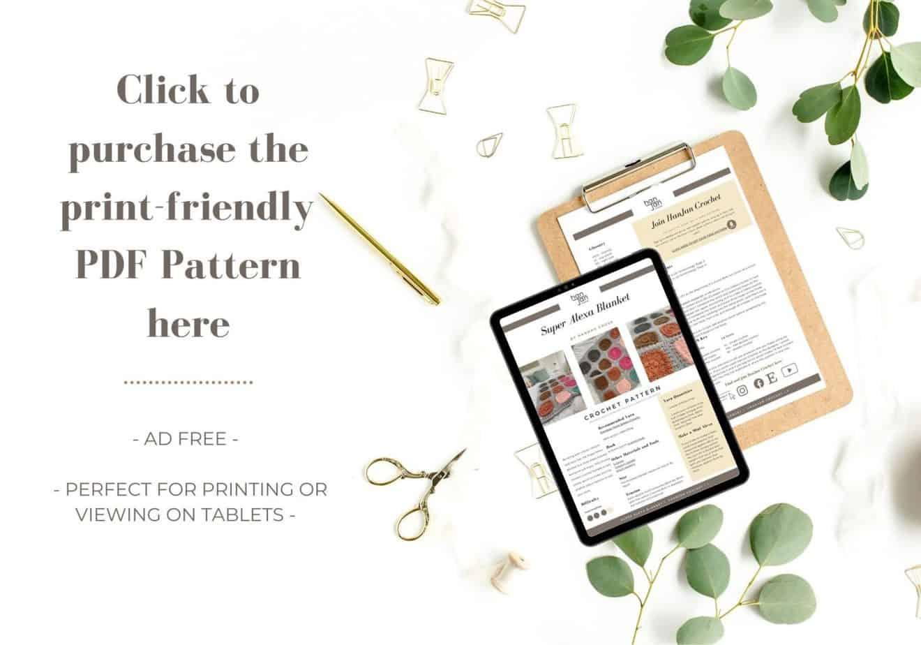 Alexa Blanket Purchase pattern option 1