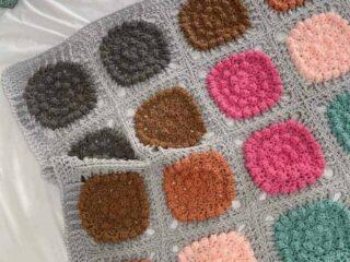chunky bobble crochet blanket