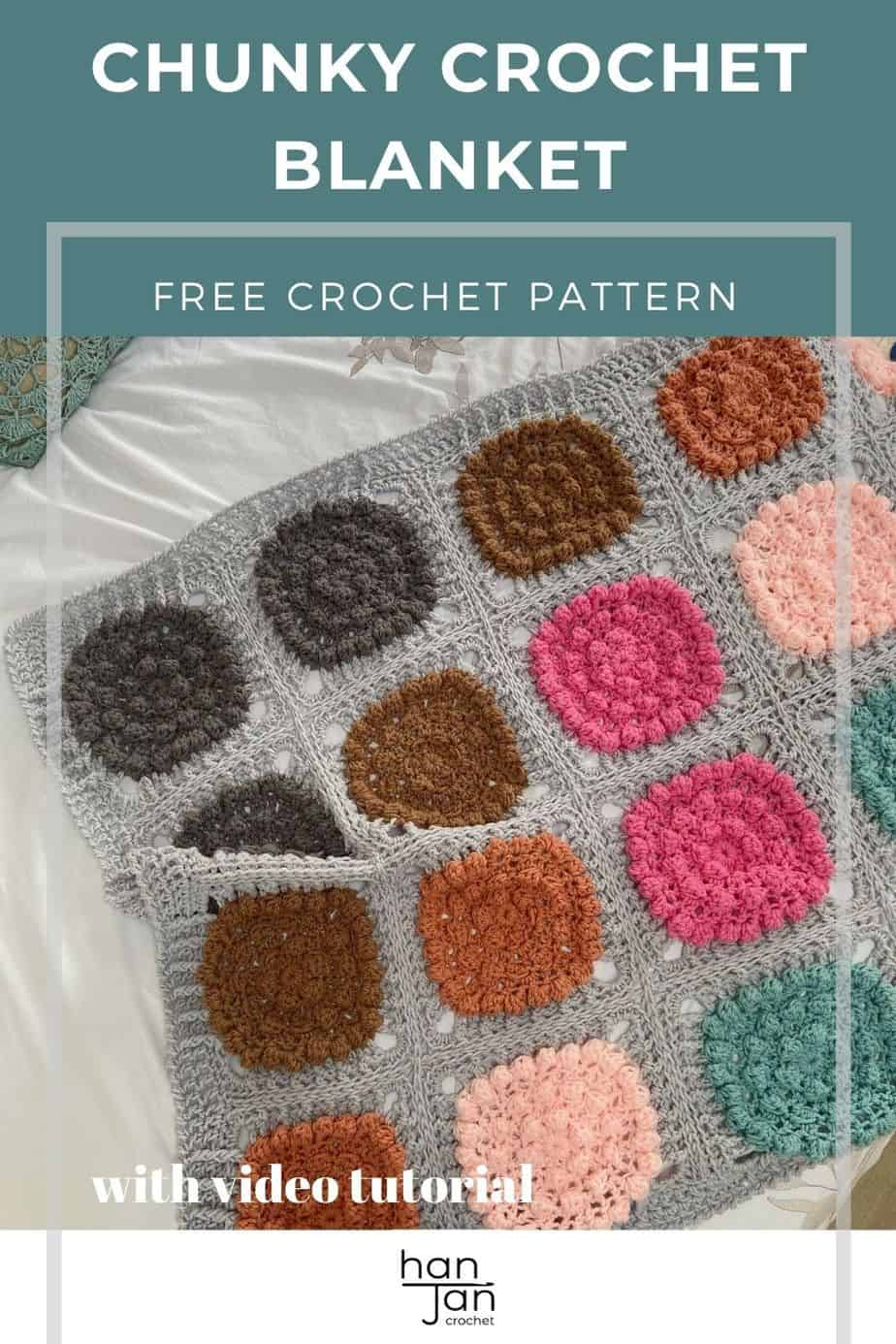 Chunky Crochet Blanket Pattern Super Alexa Blanket pin 1