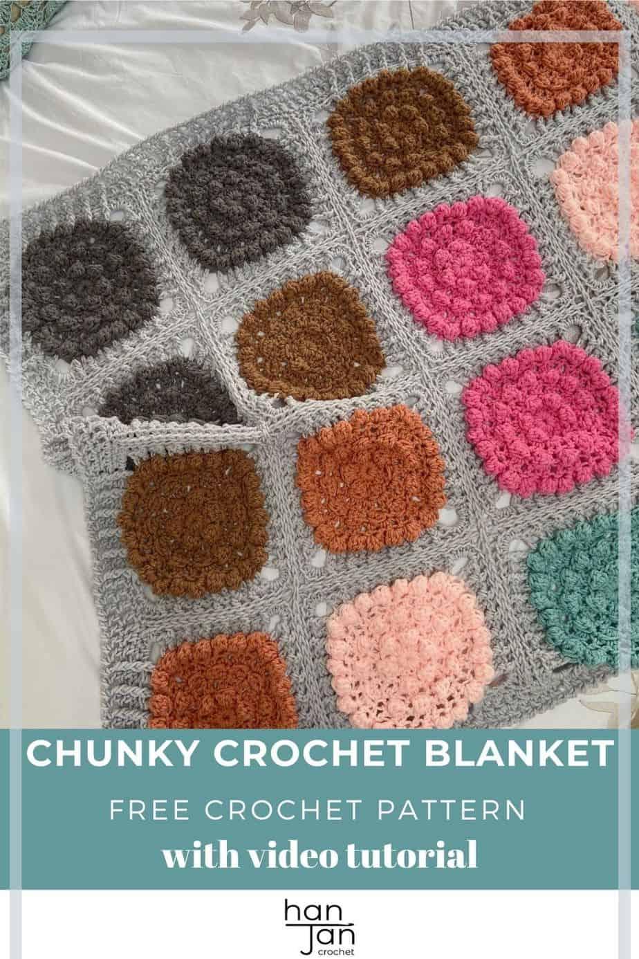 Chunky Crochet Blanket Pattern Super Alexa Blanket pin 3