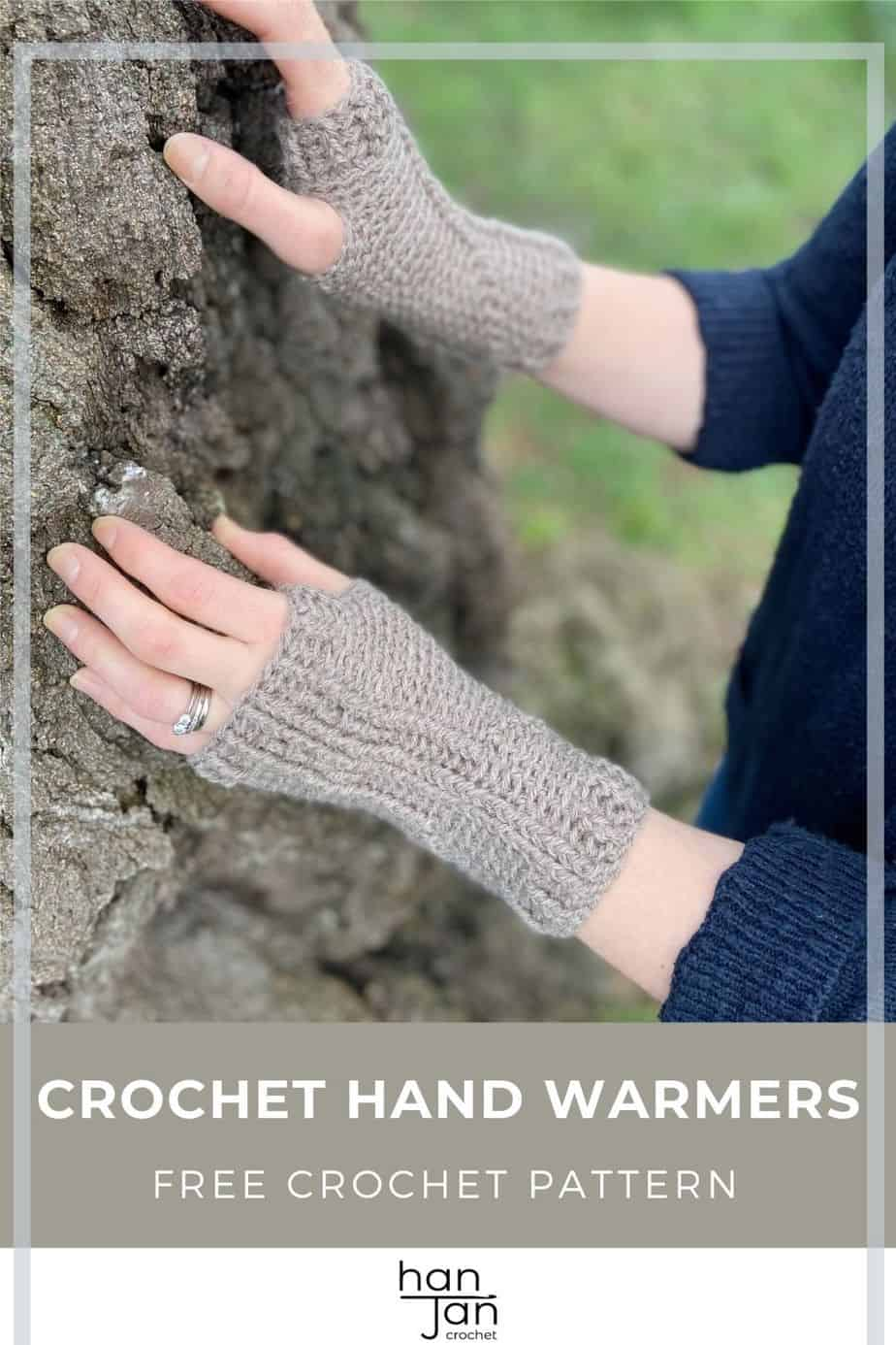 Holbourne Mitts Crochet Hand Warmers Pattern Pin 3