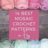 image with yarn saying 14 best mosaic crochet patterns on Etsy