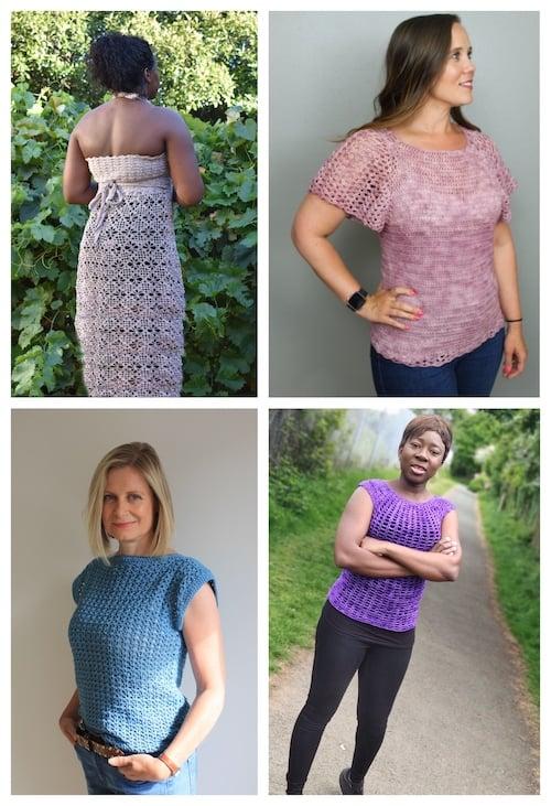 Crochet for Me Lace 2021 Bundle garment collage