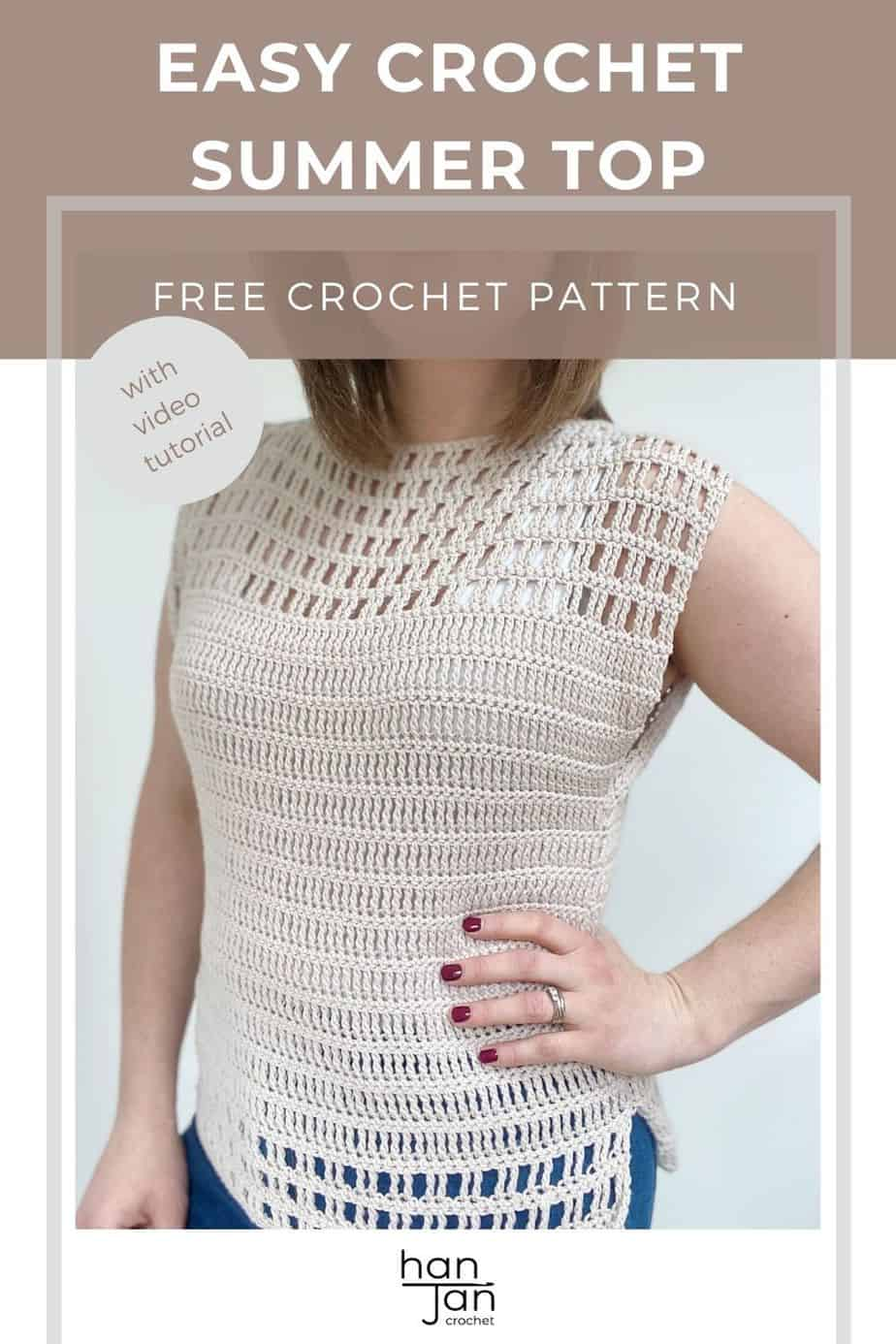 woman with hand on hip wearing cream lace crochet top