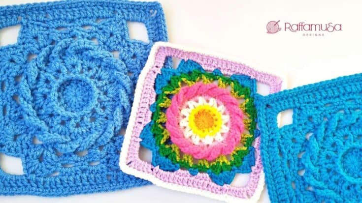 Malachia Granny Square Free Crochet Pattern RaffamusaDesigns