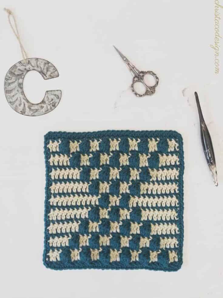 tall bobble square crochet 2