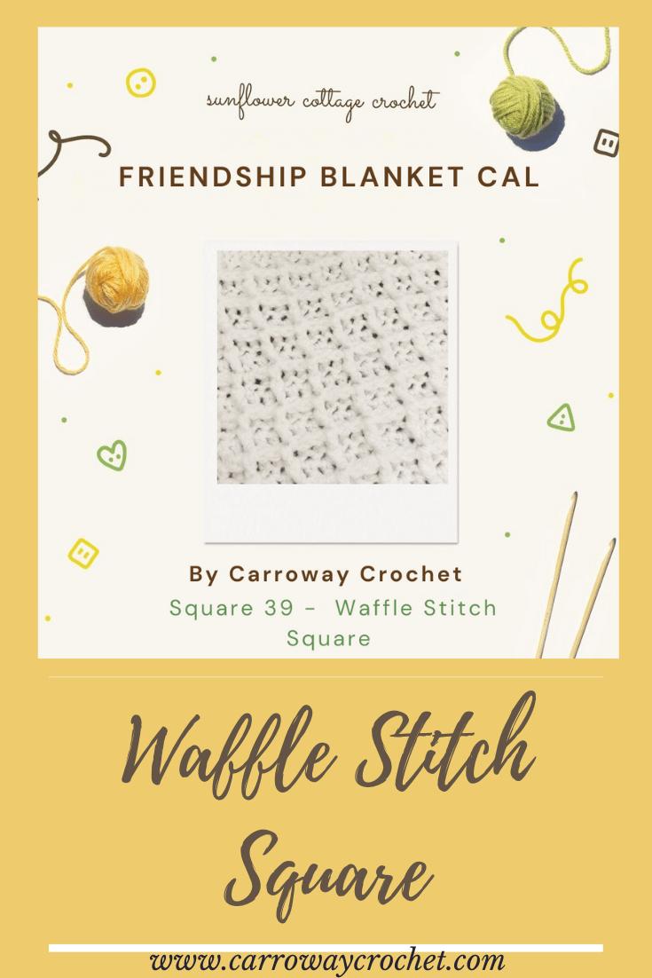 waffle stitch pin friendship Pinterest Graphic