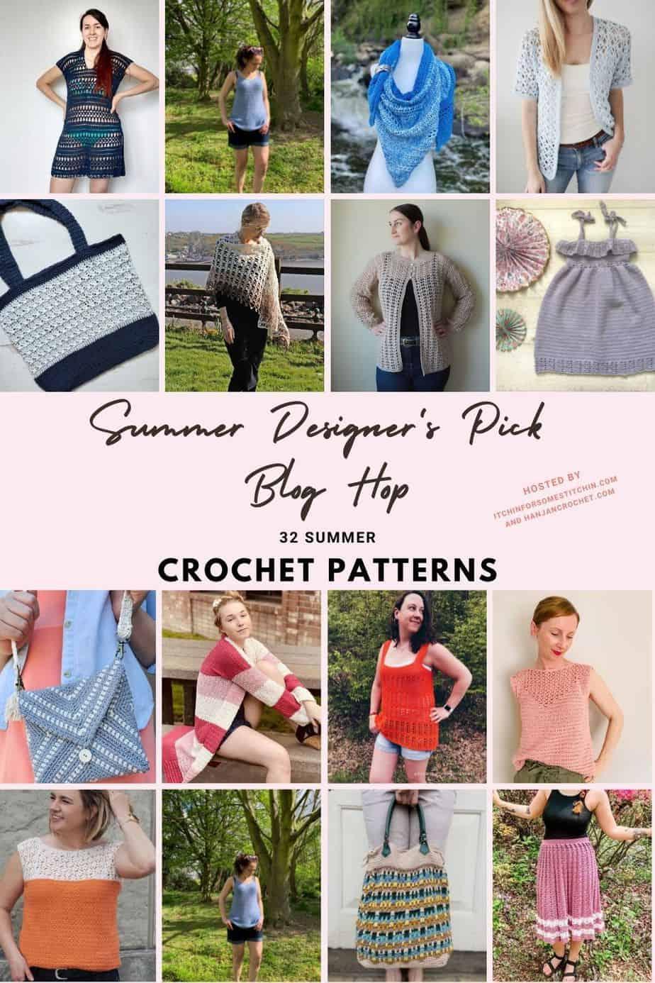 32 summer crochet patterns designer's pick blog hop