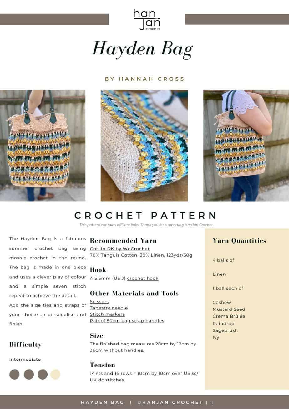 DRAFT Hayden Bag Crochet Pattern PDF