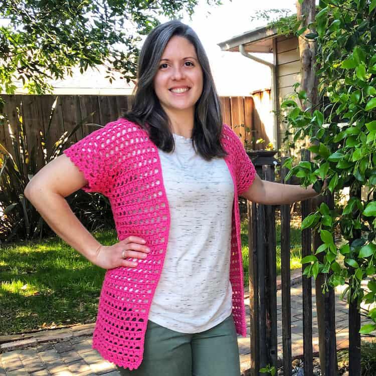 Elba lace crochet summer cardigan pattern